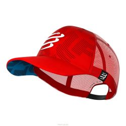 Compressport Compressport Casquette Trucker Rouge