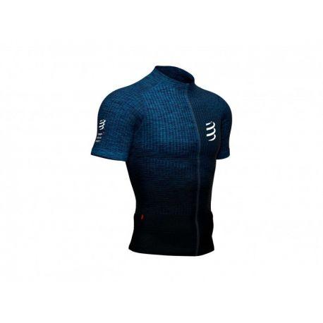 compressport Tee-Shirt - Trail Postural SS Top Bleu mélange
