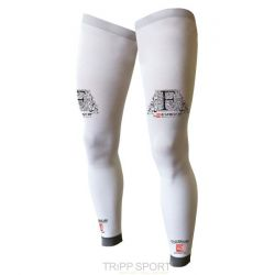 Compressport Full Leg Blanc