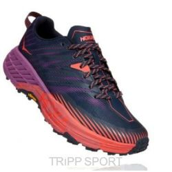 Hoka One One Speed Goat 4 - Outer Space / Hot Coral (femme)
