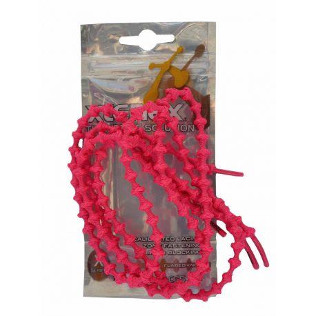 Xtenex Lacets autobloquants (paire) Enfant - Rose Fluo