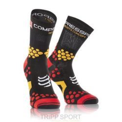 Compressport Chaussettes TRAIL Pro Racing Socks V2.1 Noir / Rouge / Orange