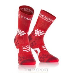 Compressport Chaussettes TRAIL Pro Racing Socks V2.1 Rouge / Blanche