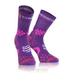 Compressport Chaussettes TRAIL Pro Racing Socks V2.1 Violet / Rose