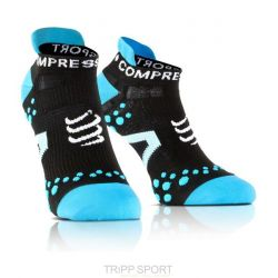 Compressport PRO RACING SOCKS V2.1 - RUN LOW-CUT SOCKS Noir Bleu