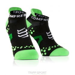 Chaussettes PRO RACING SOCKS V2.1 - RUN LOW-CUT SOCKS Noir / Vert