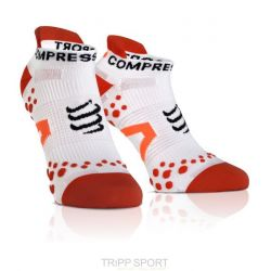 Chaussettes PRO RACING SOCKS V2.1 - RUN LOW-CUT SOCKS Blanc / Rouge
