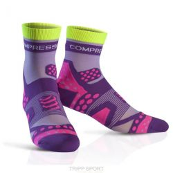 Compressport Chaussettes Racing socks ULTRALIGHT RUN HI Violet