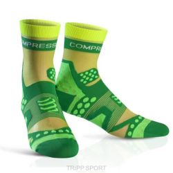 Compressport Chaussettes Racing socks ULTRALIGHT RUN HI Vert