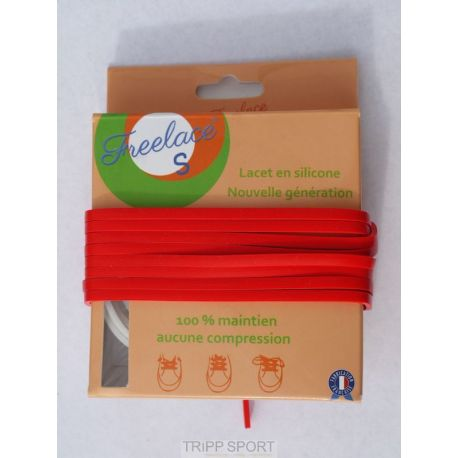Lacets silicone Freelace'S - Rouge - FreelaceReborn