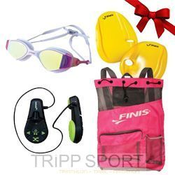 Finis Pack Pink Lady : Lecteur MP3 Duo - Lunettes Voltage - Sac Ultra Mesh - Agility paddle - Finis - Noelnatation
