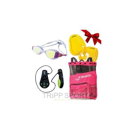 Pack Pink Lady : Lecteur MP3 Duo - Lunettes Voltage - Sac Ultra Mesh - Agility paddle - Finis - Noelnatation