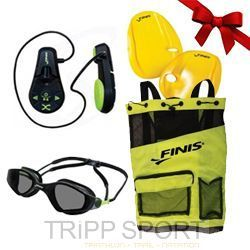 Finis Pack Homme: Lecteur MP3 Duo - Lunettes Voltage - Sac Ultra Mesh - Agility paddle - Finis - Noelnatation