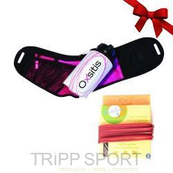 Pack runnning Light Rose - Ceinture porte bidon Hydrabelt Light Rose - Oxsitis, Freelace S Rose Balais - Trail / Running