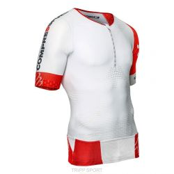 Maillot de compression Triathlon TR3 AERO TOP Blanc