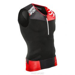 Compressport Maillot de compression Triathlon TR3 Tank TOP Noir