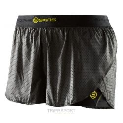 Skins DNAMIC WOMEN'S SUPERPOSE SHORT - BLACK/LIMONCELLO