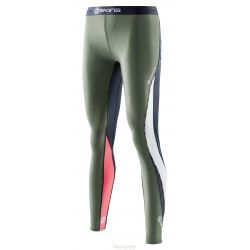 Skins DNAMIC WOMEN'S LONG TIGHTS - MIDNIGHT/SAGE
