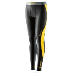 Skins DNAMIC YOUTH LONG TIGHTS - BLACK/CITRON