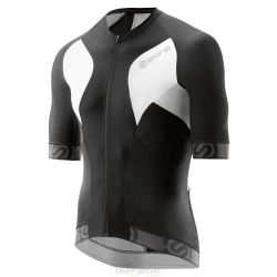Skins Maillot de Cyclisme MENS S/S JERSEY TREMOLA DUE - BLACK/WHITE