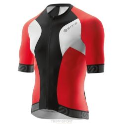 Skins Maillot de Cyclisme MENS S/S JERSEY TREMOLA DUE - BLACK/WHITE/RED