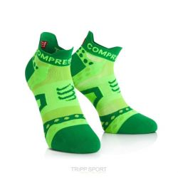 Compressport Chaussettes Racing socks ULTRALIGHT RUN LO Vert