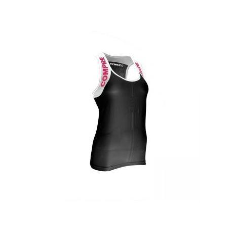 Ultra tank Top de compression Trail Femme sans manches Noir