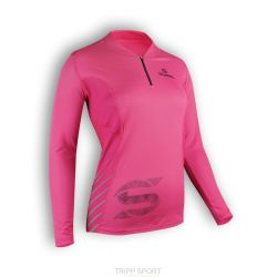 Tee-shirt Trail Femme manches longues Rose