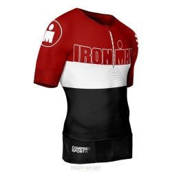 Maillot de compression Triathlon TR3 AERO TOP Ironman Stripes Rouge