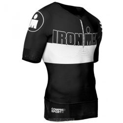 Maillot de compression Triathlon TR3 AERO TOP Ironman Stripes Noir