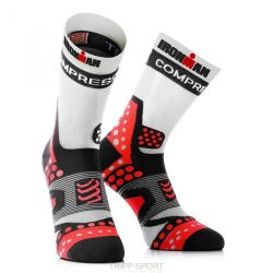 Compressport Chaussettes Pro Racing Socks Ultralight Run - Noir/Rouge
