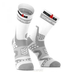 Compressport Chaussettes Pro Racing Socks Ultralight Run - Blanc/Gris