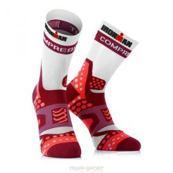 Compressport Chaussettes Pro Racing Socks Ultralight Run - Rouge/Blanc