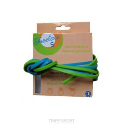 Lacets silicone Freelace'S - Turquoise et Vert - FreelaceReborn