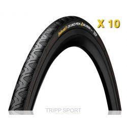 Continental Lot de 10 Pneus Route GRAND PRIX 4 SEASON 700x25c Souple
