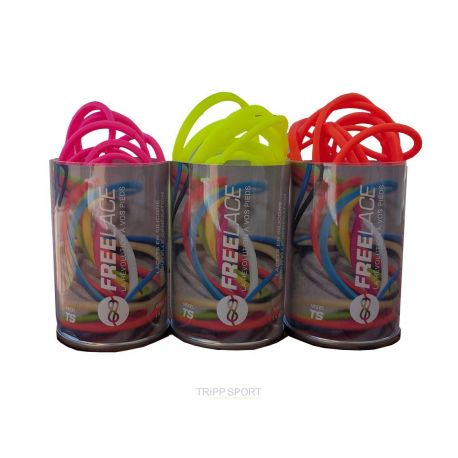 Lacets silicone Freelace TTR FLUO - FreelaceReborn