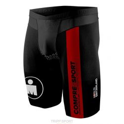Compressport Short de compression TR3 Brutal Ironman Smart noir/rouge Homme