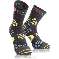 Chaussettes Trail Compressport ProRacing Socks V2.1 Winter Trail - Gris