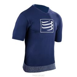 Compressport Tee-shirt manches courtes Training T-Shirt Bleu