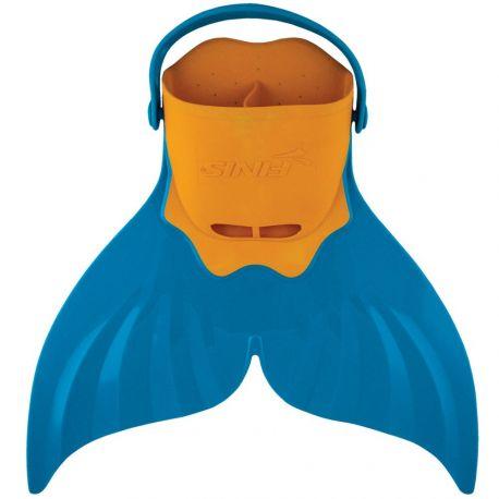 Monopalme junior - Mermaid Fin Orange Bleu