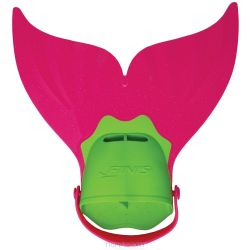 Finis Monopalme junior - Mermaid Fin Rose Vert Bleu
