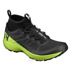 Salomon Chaussure Trail Running XA ENDURO BLACK/LIME GREEN/BLACK