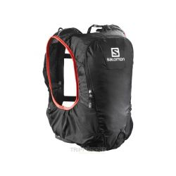 Salomon BAG SKIN PRO 10 SET Noir / Rouge