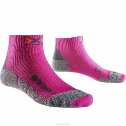 Chaussettes Running X SOCKS RUN DISCO V2 FUSCHIA