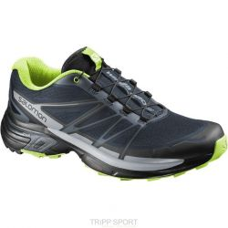 Salomon Wings Pro 2 Trail Running - slate blue/light onix/granny green
