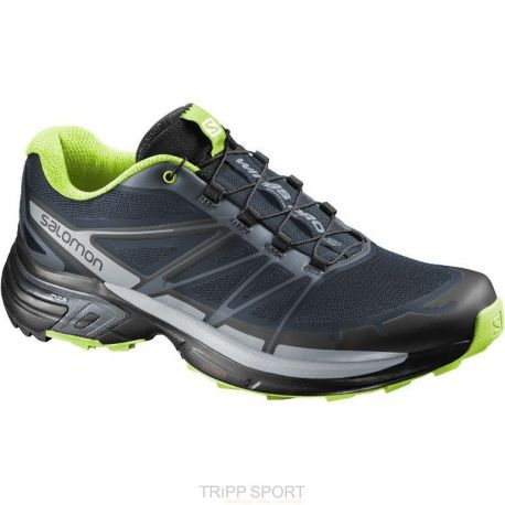 Wings Pro 2 Trail Running - slate blue/light onix/granny green