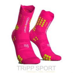 Compressport RACING SOCKS V3.0 TRAIL PINK