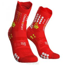 Compressport RACING SOCKS V3.0 TRAIL ROUGE