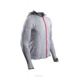 Compressport Casual Seamless Veste à capuche Swim Bike Run veste – Hoddie Triathlon Unisexe avec capuche gris