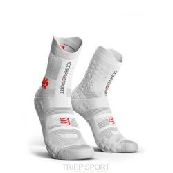Compressport RACING SOCKS V3.0 TRAIL BLANC